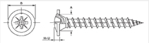 Chipboard screws truss head with flange pozi cross recess